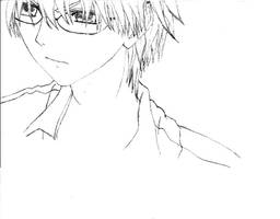 Usui with glasses by msanimejapan