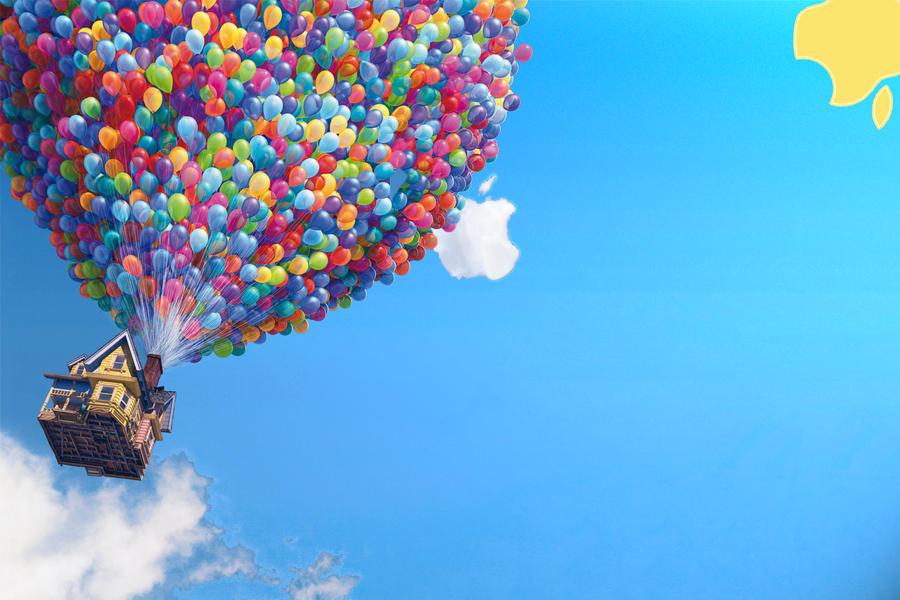 Apple Pixar UP Wallpaper by LindsayCookie