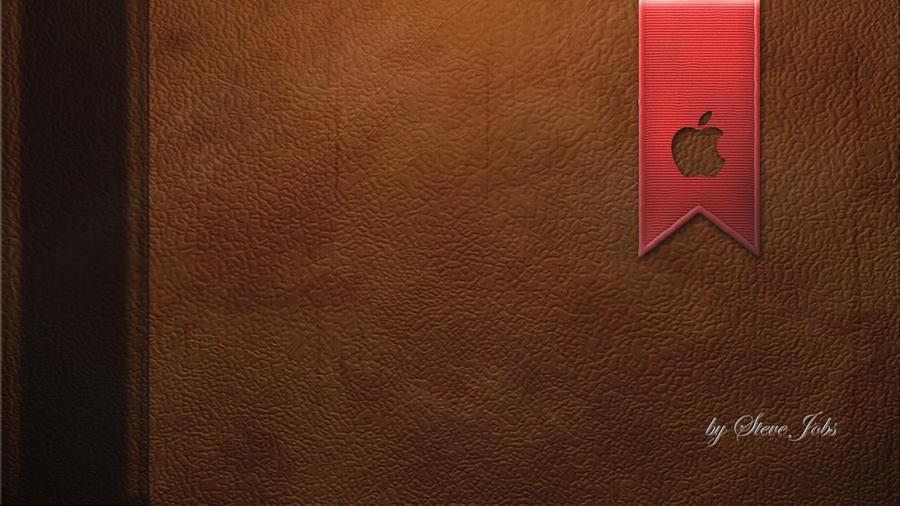 Apple Leather Book Wallpaper By LindsayCookie