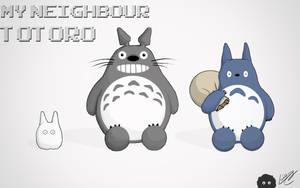 Totoro Family by LindsayCookie