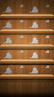 Andy's Room iPhone 5 Shelves Wallpaper by LindsayCookie