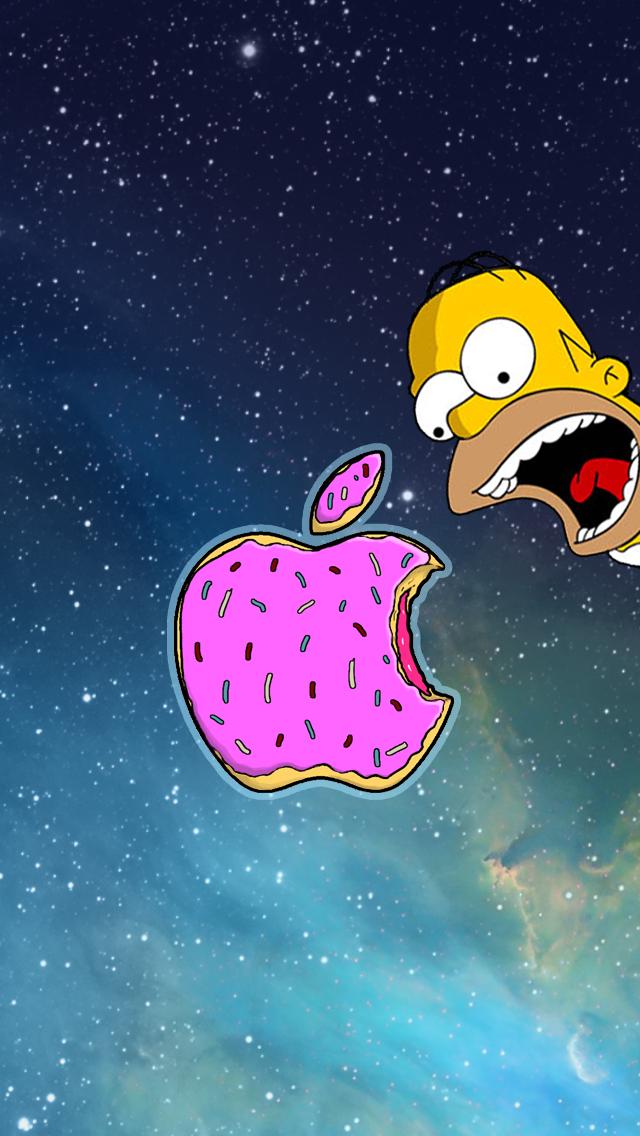 Simpsons Iphone 5 Donut Nebula Wallpaper By Lindsaycookie On Deviantart