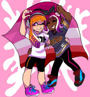 cephalopod lesbians by onetts