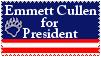 Emmett for President Stamp by seremela05