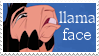Llama Face Stamp by seremela05
