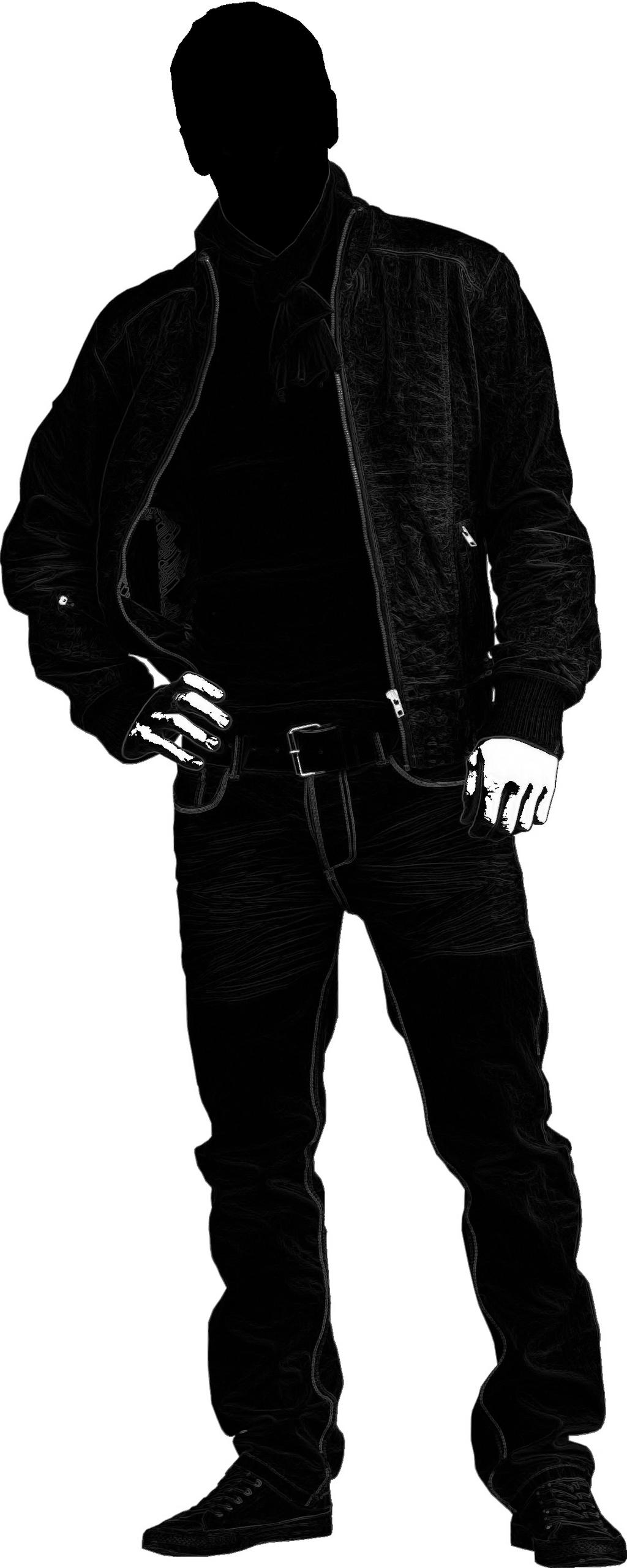 Male silhouette by seremela05 on DeviantArt