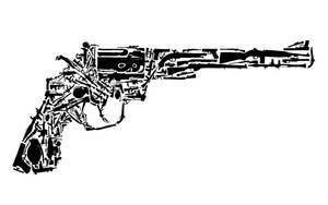 revolver made of guns by washwithcare