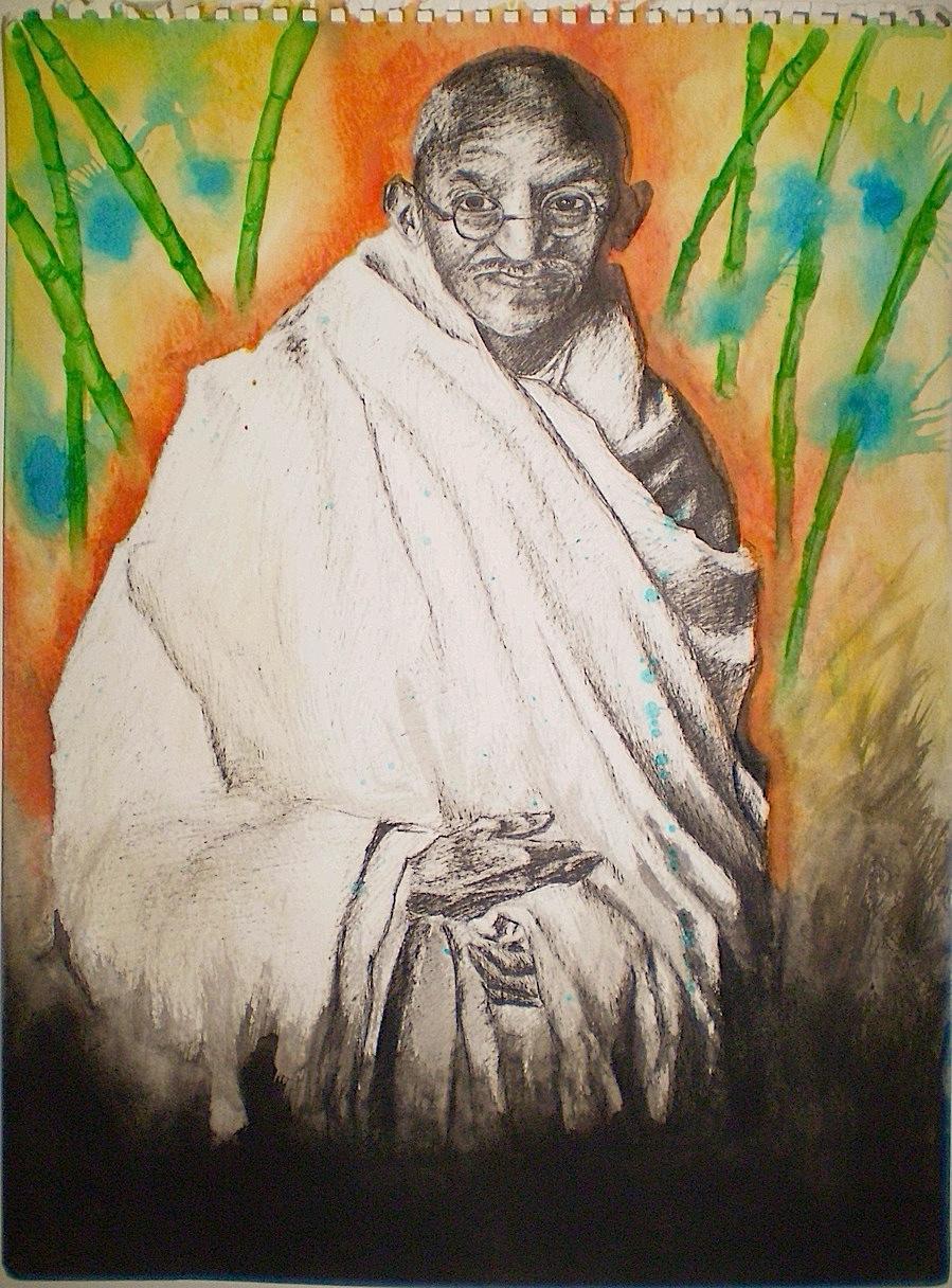 Gandhi in a Dub Jungle by ThatShaclacky