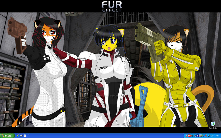 Fur Effect Desktop by Chikiyo-Wolf