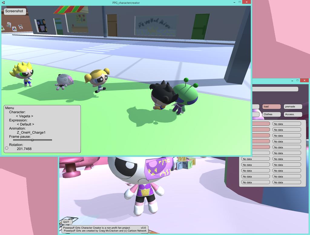 Powerpuff Girls: Character Creator v0.6 by tifu