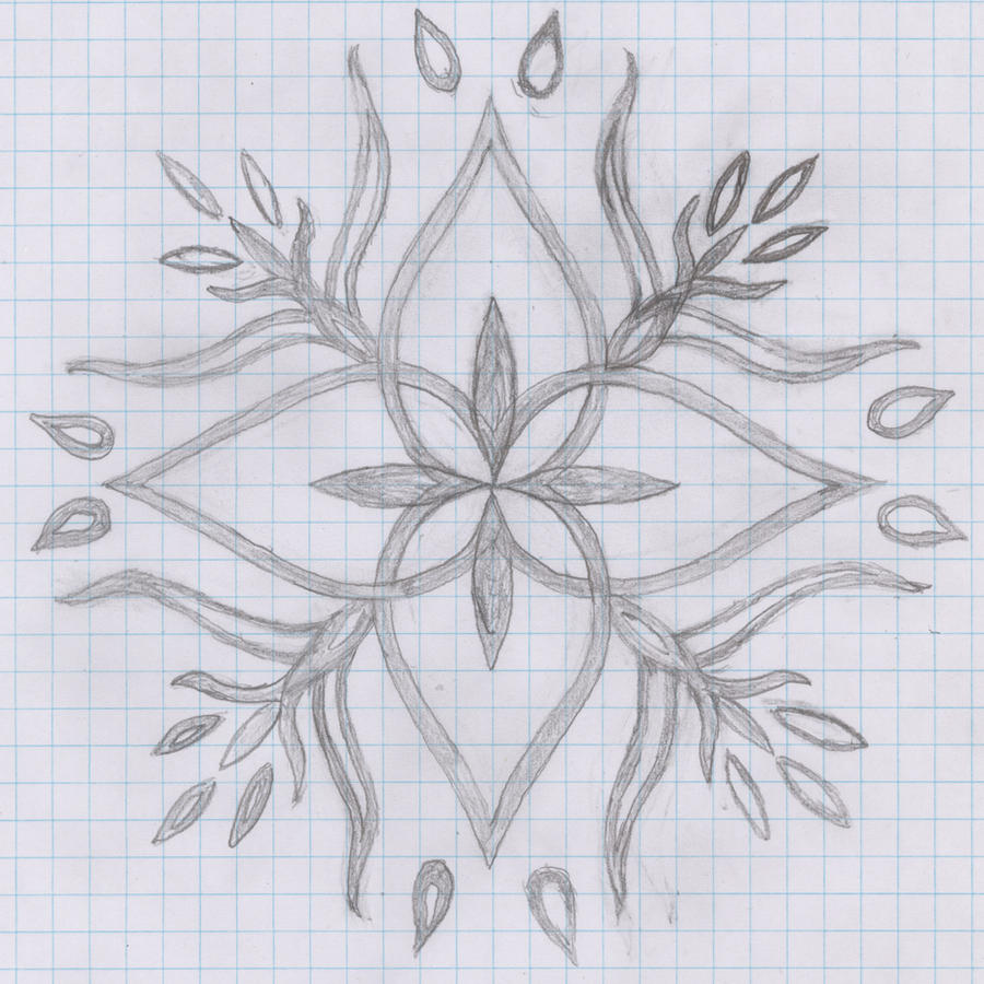 flower design on paper by virdismontis on DeviantArt