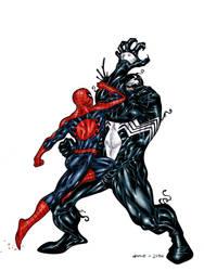 Spidey V.S. Venom by JoshTempleton