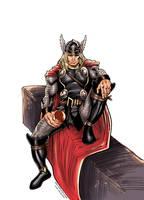The migthy Thor by JoshTempleton