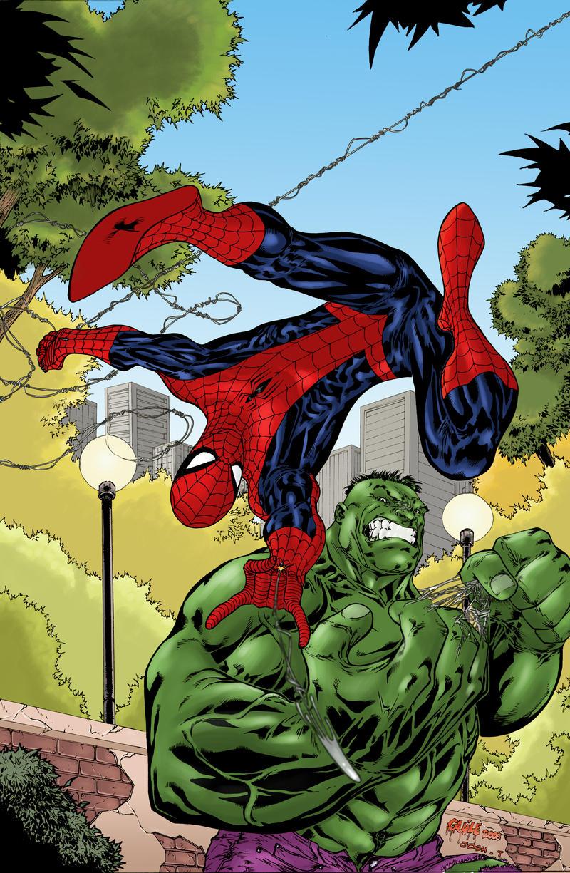 Hulk vs Spiderman on Pinterest | Hulk, Spiderman and Comic Art