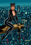 Catwoman on Gotham by night