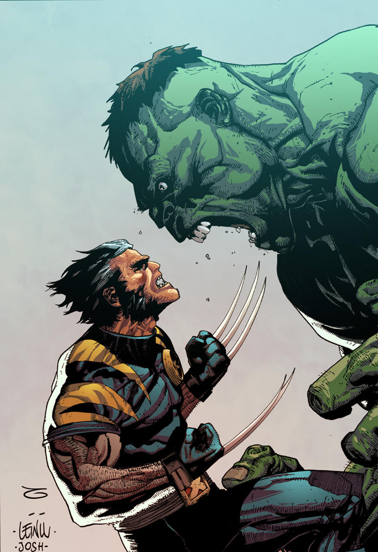 Ultimate Hulk and Wolverine by JoshTempleton