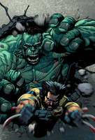 Ultimate Hulk and Wolverine 02 by JoshTempleton