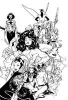 Women of Marvel Inks by JoshTempleton