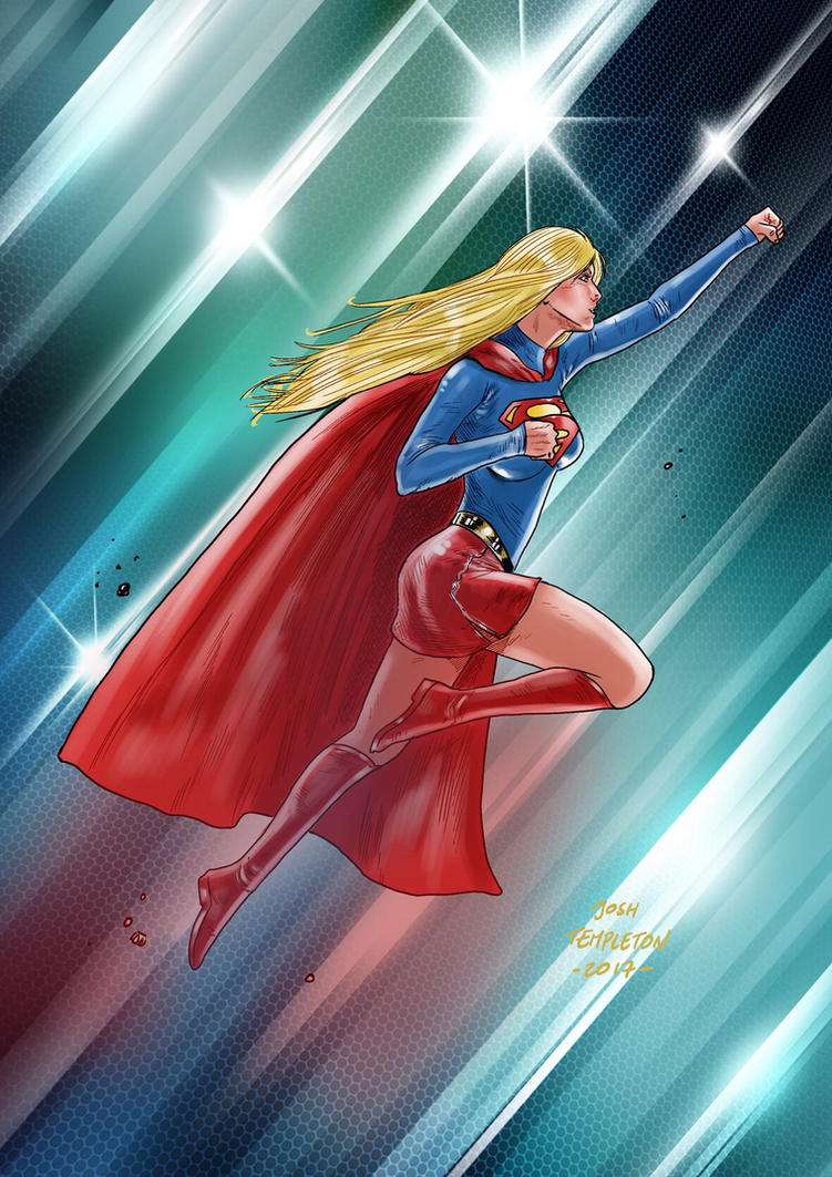 Inktober SUPERGIRL by JoshTempleton