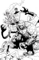 Leinil Fantastic Four ink by JoshTempleton