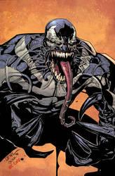 Leinil Venom ink and colors by JoshTempleton