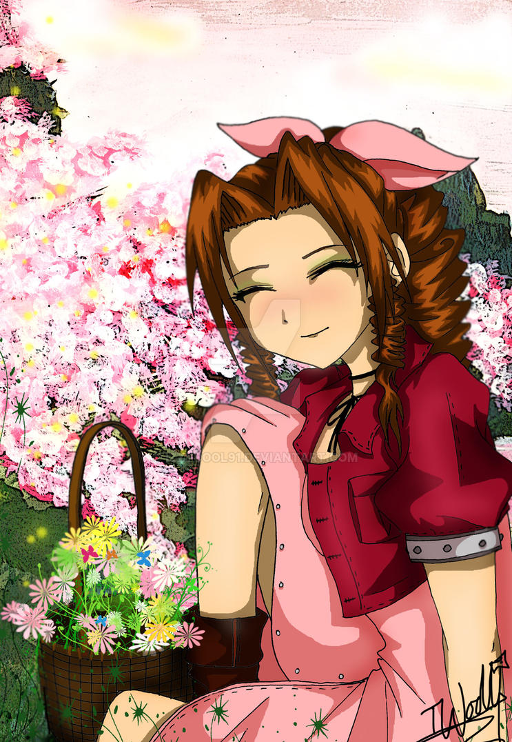 Aerith- Flower Girl by izzycool91