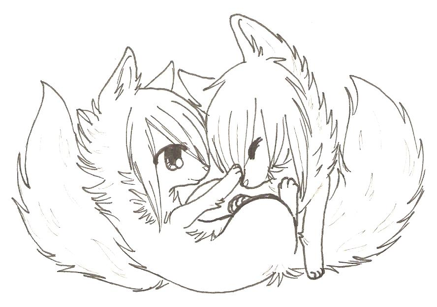 Wolf Couple Coloring Pages