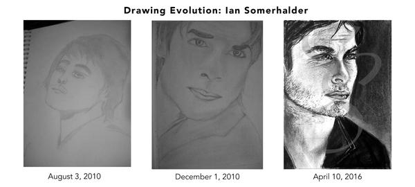 Drawing Evolution:Ian Somehalder by tigercrazzy