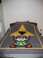 Link Triforce Quilt by quiltoni