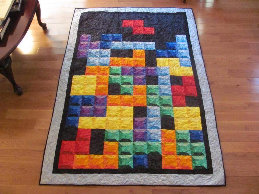 Tetris Quilt by quiltoni