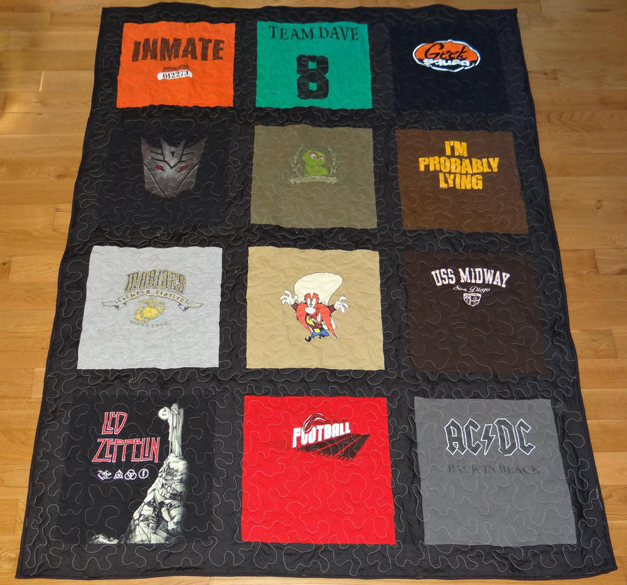 Lap size Tshirt quilt with Sashing by quiltoni on DeviantArt