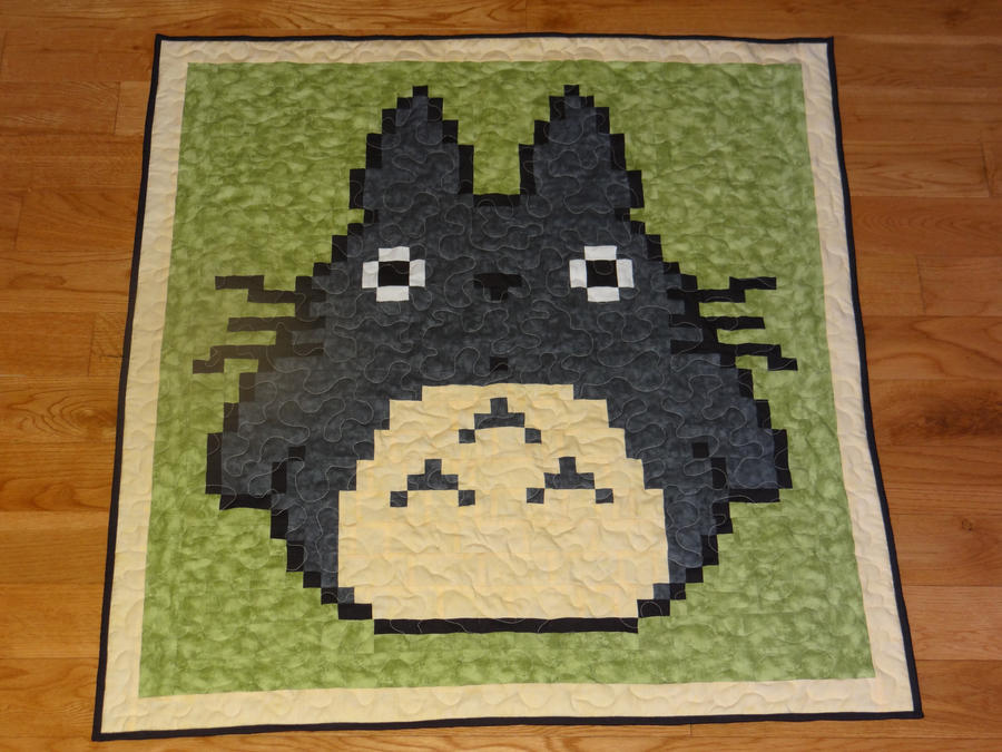 Totoro baby quilt by quiltoni on DeviantArt : 8 bit quilt - Adamdwight.com