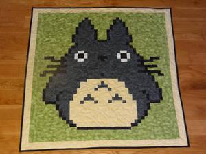 Totoro baby quilt