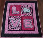 Hello Kitty Love Quilt
