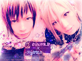 Takeru x Ryuuji wall by katja94