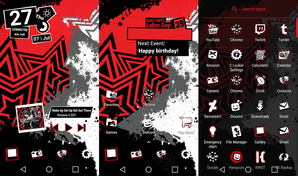 Persona 5 Android Theme Tutorial In The Desc By Ape1ron On Deviantart