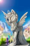 Twilight sparkle- Statue in canterlot