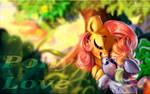 Sketch - FlutterShy and Rainbow Dash - Pony love