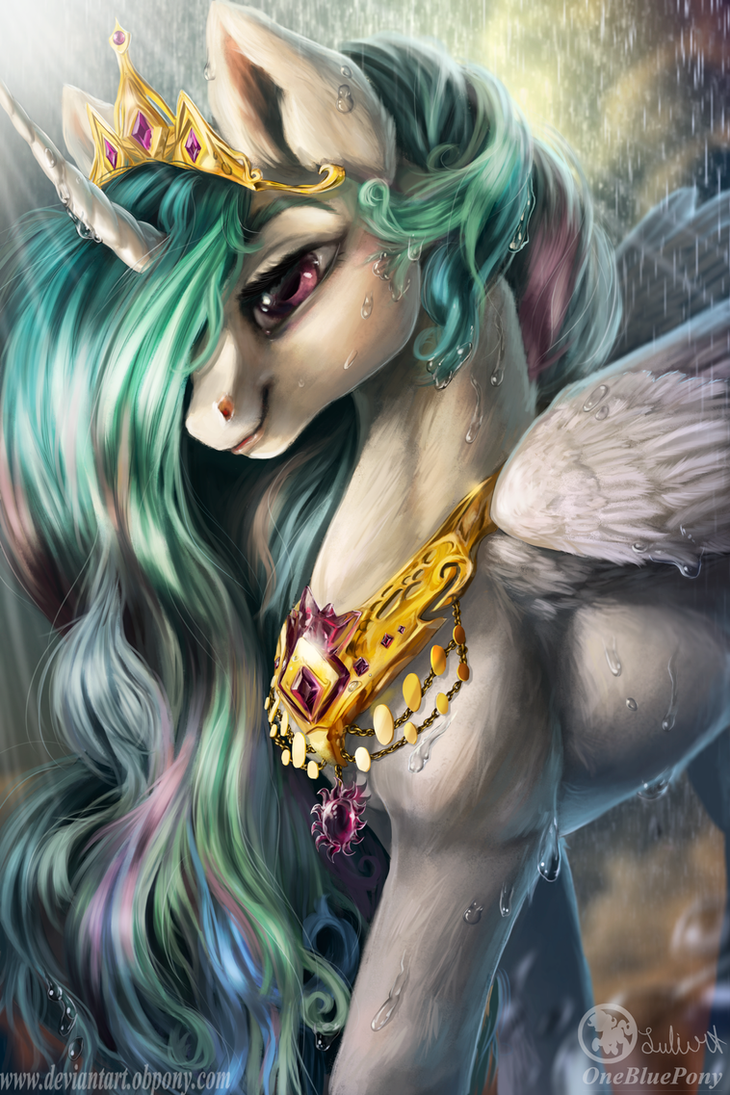 Queen Celestia- I'll lighten up your sky by Obpony