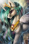 Queen Celestia- I'll lighten up your sky