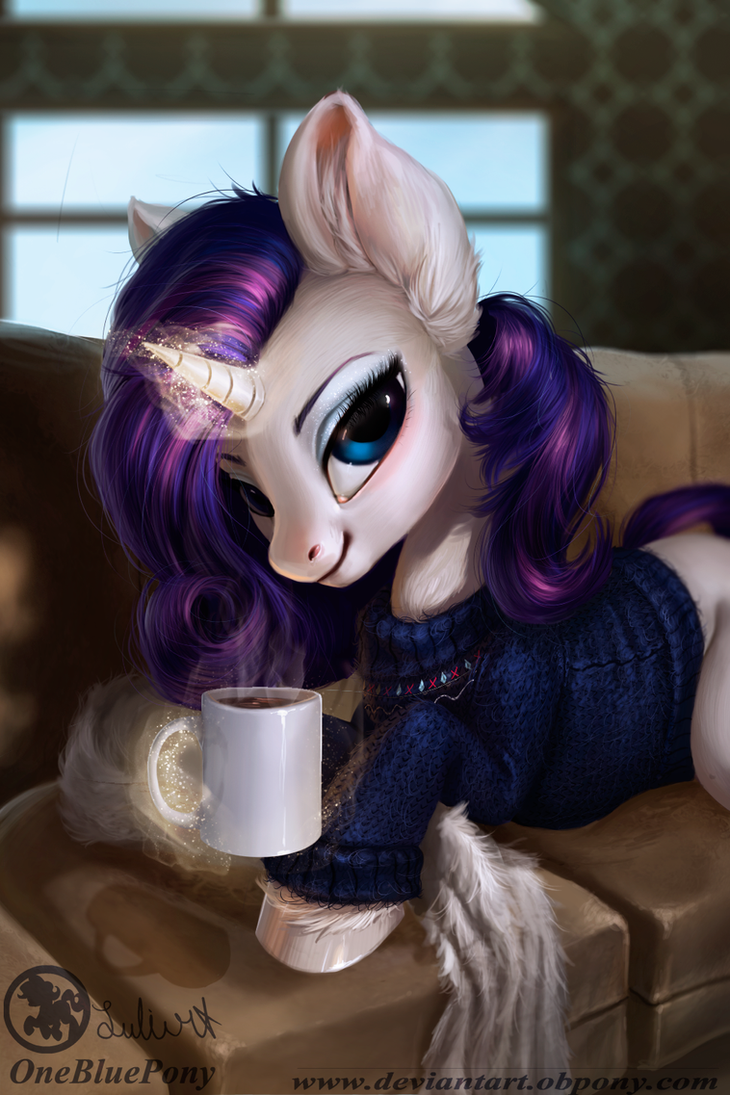 rarity__winter_morning_by_obpony-d9t9hhf