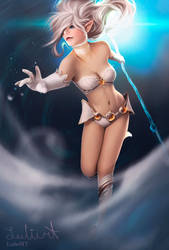 (Photobash) Photo model turned into Janna-cut out by LuleMT