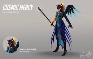 OVERWATCH - Cosmic Mercy skin by LuleMT