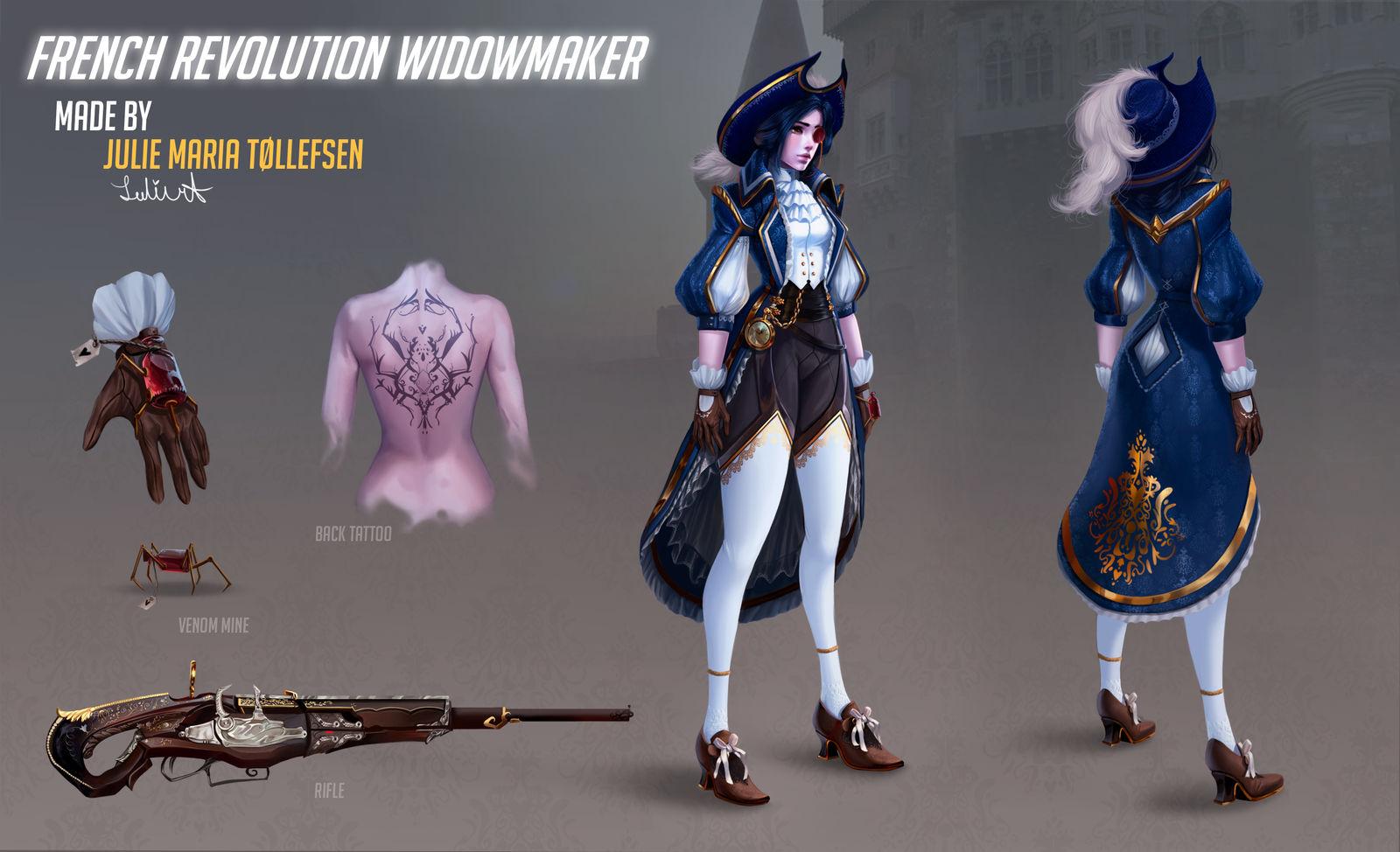 Overwatch French revolution  Widowmaker FAN SKIN by LuleMT
