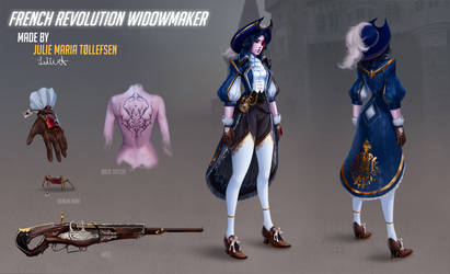 Overwatch French revolution  Widowmaker FAN SKIN