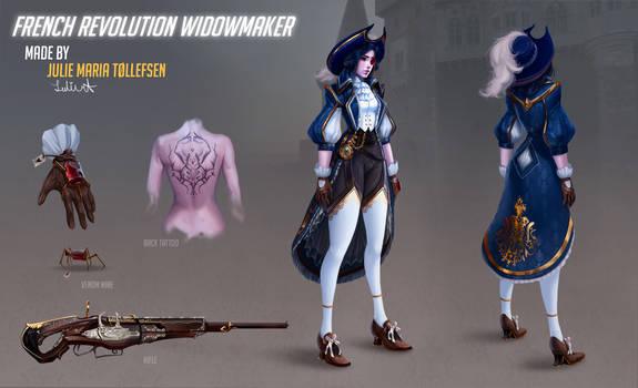 Overwatch French revolution  Widowmaker FAN SKIN