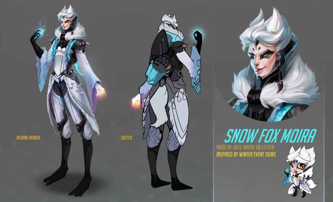 Overwatch fan skin - Moira Snow Fox by LuleMT