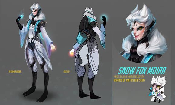Overwatch fan skin - Moira Snow Fox