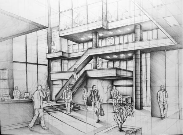 Office Building Atrium Project By Kosa666 On Deviantart