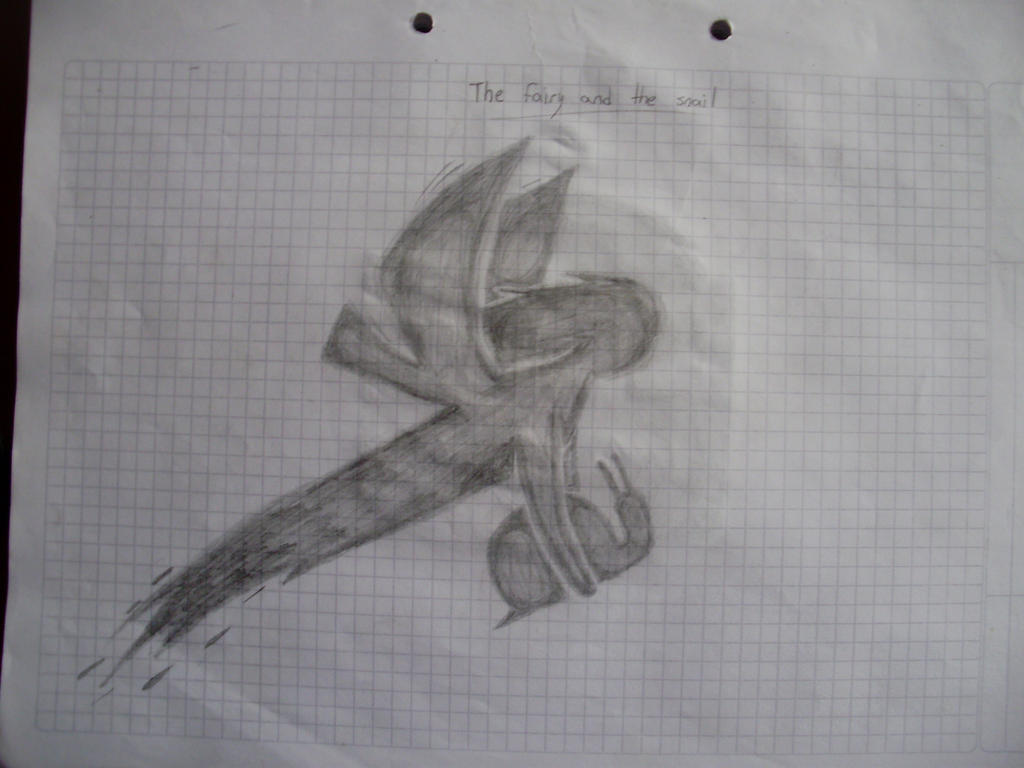 Galería de Urucita - Página 2 The_fairy_and_the_snail_by_urucita-d85eb1a